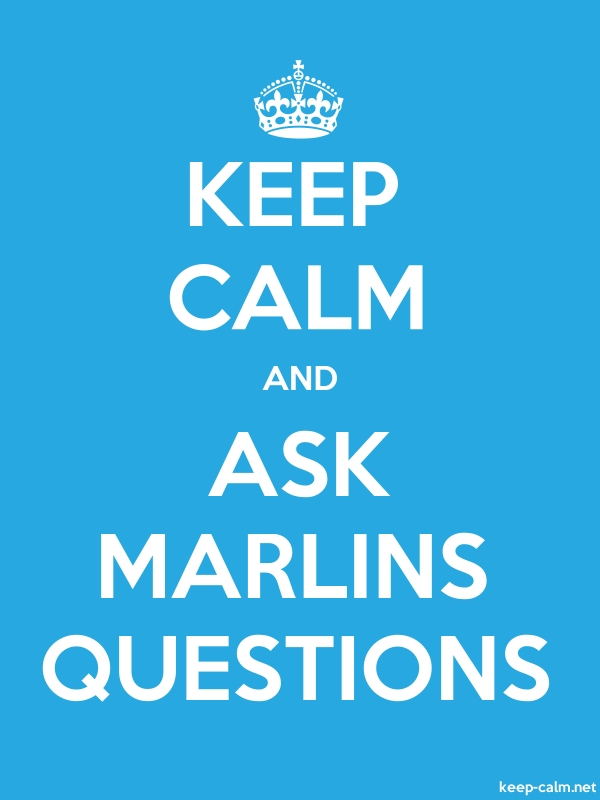 KEEP CALM AND ASK MARLINS QUESTIONS - white/blue - Default (600x800)