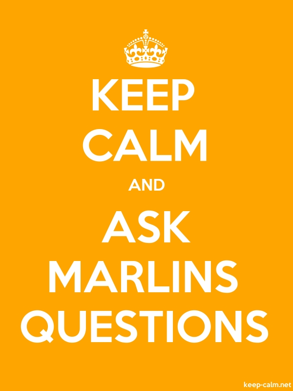 KEEP CALM AND ASK MARLINS QUESTIONS - white/orange - Default (600x800)