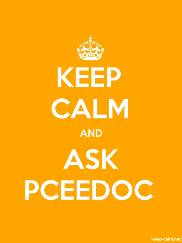 KEEP CALM AND ASK PCEEDOC - white/orange - Default (600x800)