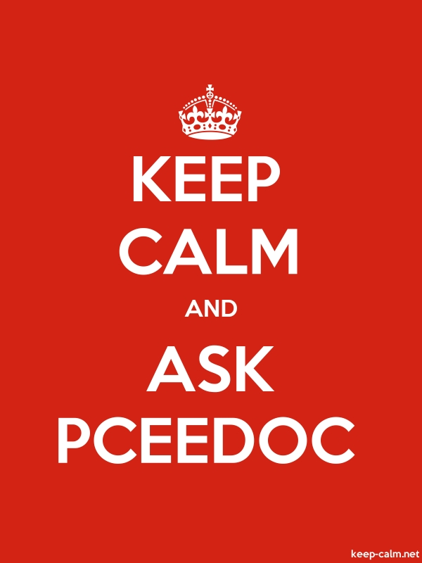 KEEP CALM AND ASK PCEEDOC - white/red - Default (600x800)