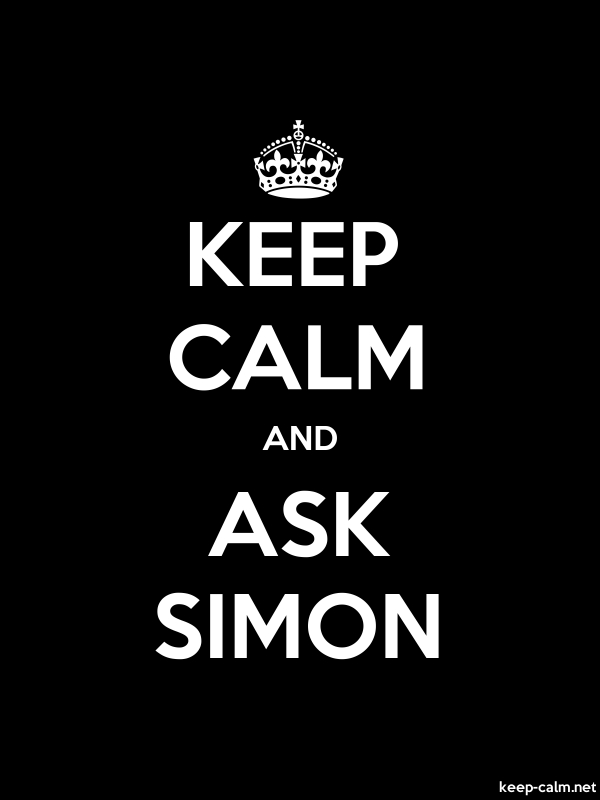 KEEP CALM AND ASK SIMON - white/black - Default (600x800)