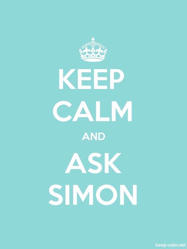 KEEP CALM AND ASK SIMON - white/lightblue - Default (600x800)