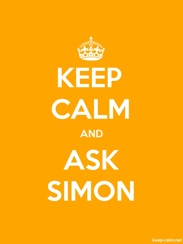 KEEP CALM AND ASK SIMON - white/orange - Default (600x800)