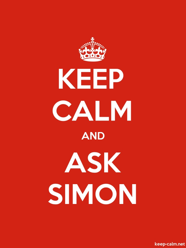 KEEP CALM AND ASK SIMON - white/red - Default (600x800)