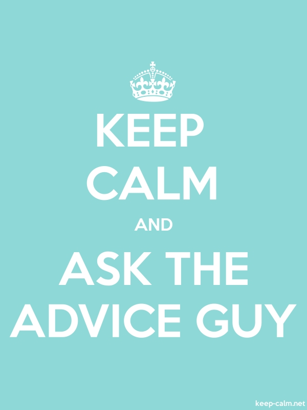 KEEP CALM AND ASK THE ADVICE GUY - white/lightblue - Default (600x800)