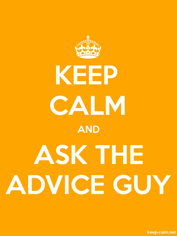 KEEP CALM AND ASK THE ADVICE GUY - white/orange - Default (600x800)
