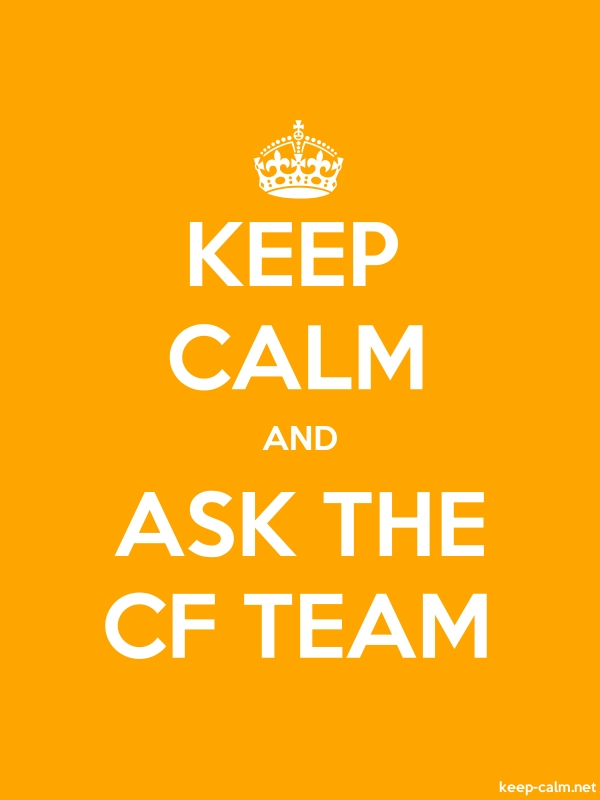 KEEP CALM AND ASK THE CF TEAM - white/orange - Default (600x800)