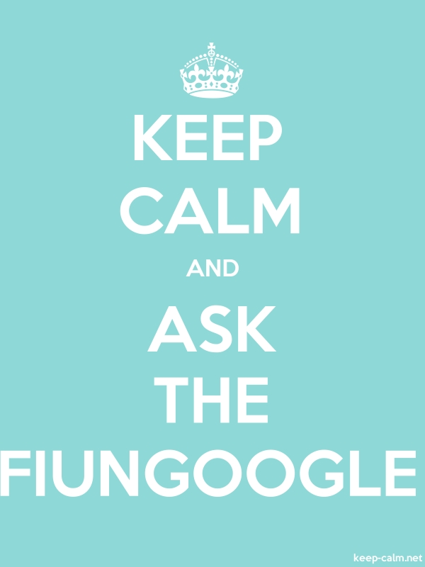 KEEP CALM AND ASK THE FIUNGOOGLE - white/lightblue - Default (600x800)