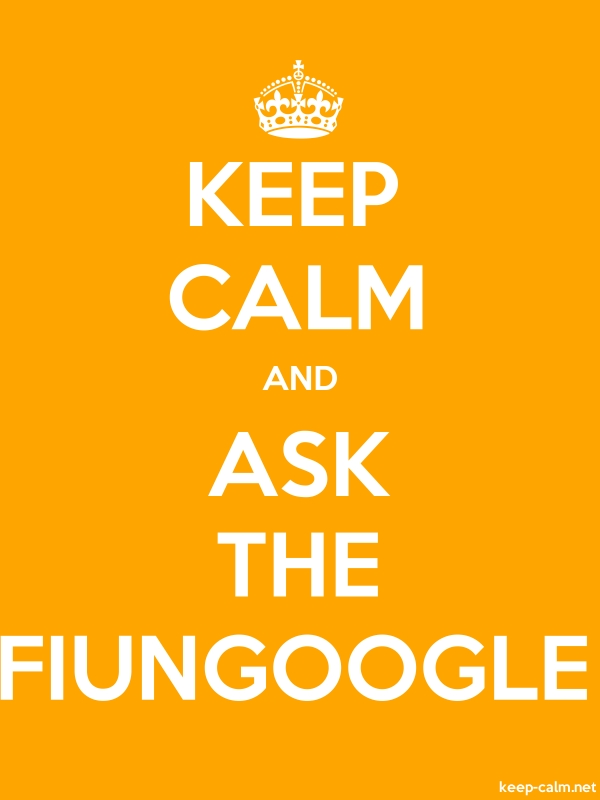KEEP CALM AND ASK THE FIUNGOOGLE - white/orange - Default (600x800)