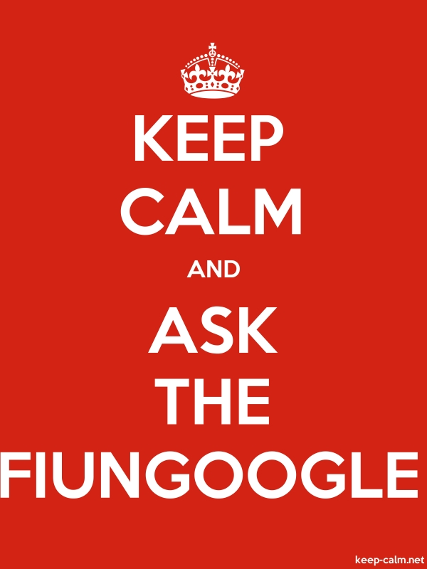 KEEP CALM AND ASK THE FIUNGOOGLE - white/red - Default (600x800)