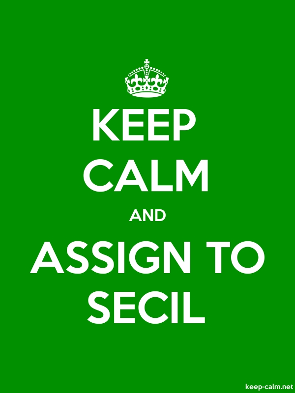 KEEP CALM AND ASSIGN TO SECIL - white/green - Default (600x800)