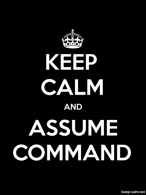 KEEP CALM AND ASSUME COMMAND - white/black - Default (600x800)