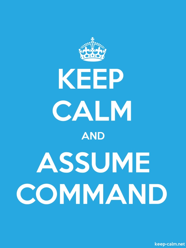 KEEP CALM AND ASSUME COMMAND - white/blue - Default (600x800)