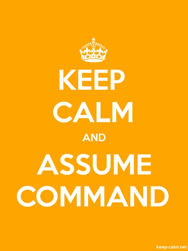KEEP CALM AND ASSUME COMMAND - white/orange - Default (600x800)