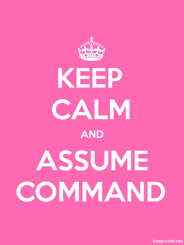 KEEP CALM AND ASSUME COMMAND - white/pink - Default (600x800)