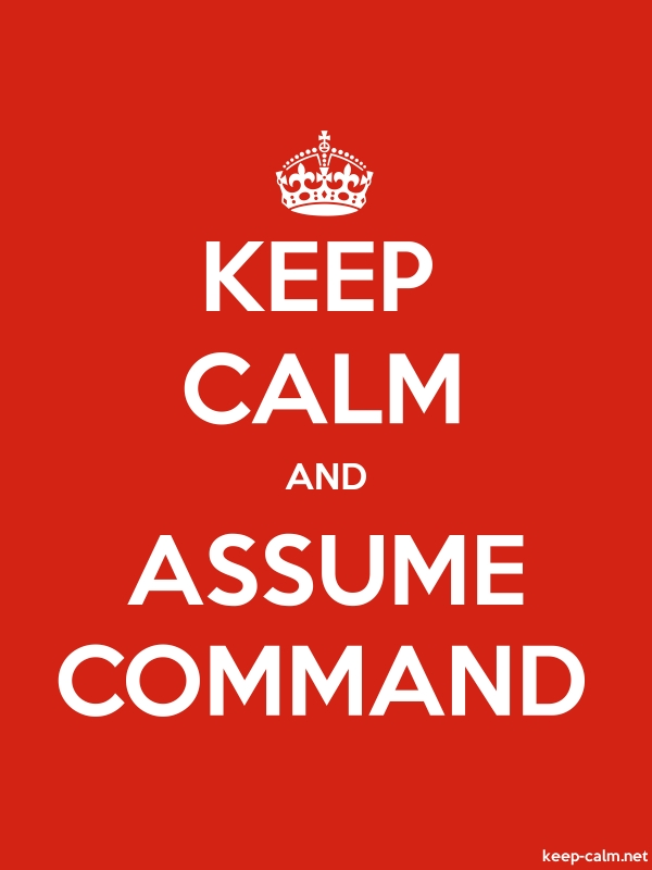 KEEP CALM AND ASSUME COMMAND - white/red - Default (600x800)