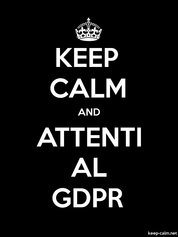 KEEP CALM AND ATTENTI AL GDPR - white/black - Default (600x800)