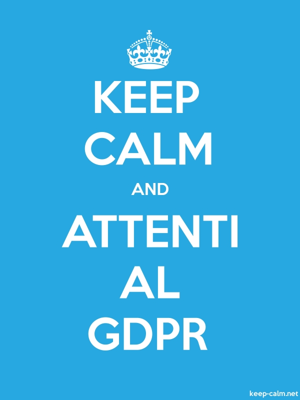 KEEP CALM AND ATTENTI AL GDPR - white/blue - Default (600x800)