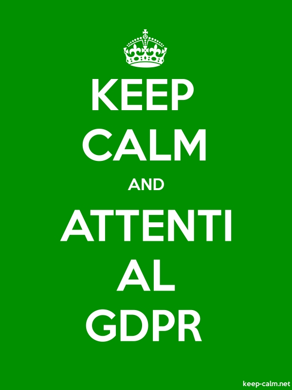 KEEP CALM AND ATTENTI AL GDPR - white/green - Default (600x800)