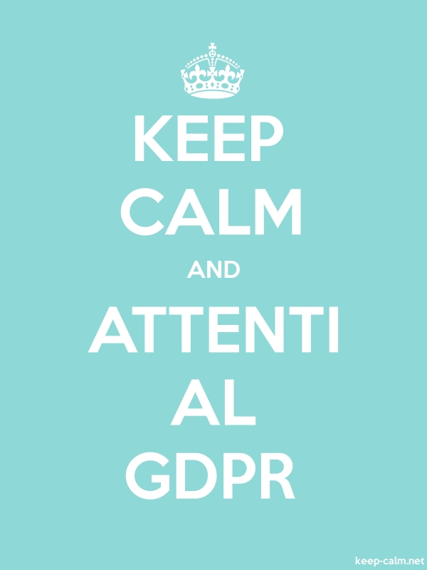 KEEP CALM AND ATTENTI AL GDPR - white/lightblue - Default (600x800)