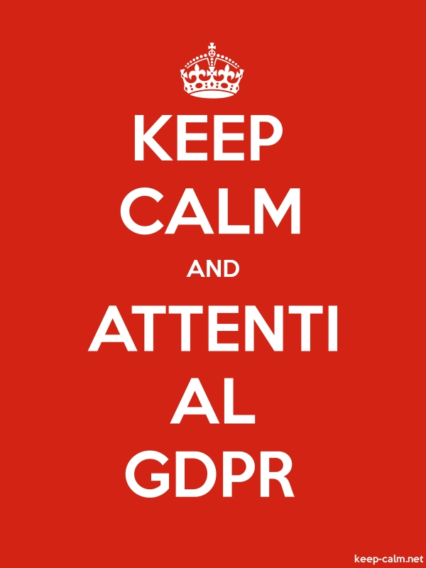 KEEP CALM AND ATTENTI AL GDPR - white/red - Default (600x800)