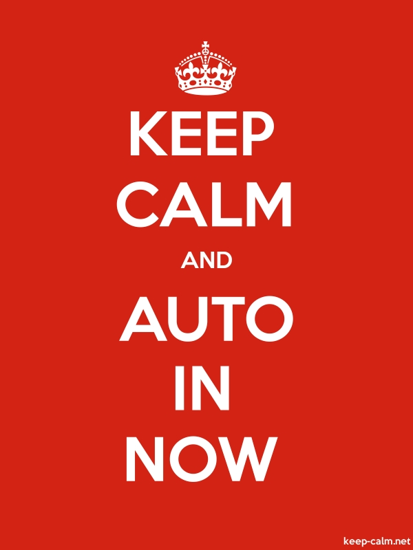 KEEP CALM AND AUTO IN NOW - white/red - Default (600x800)