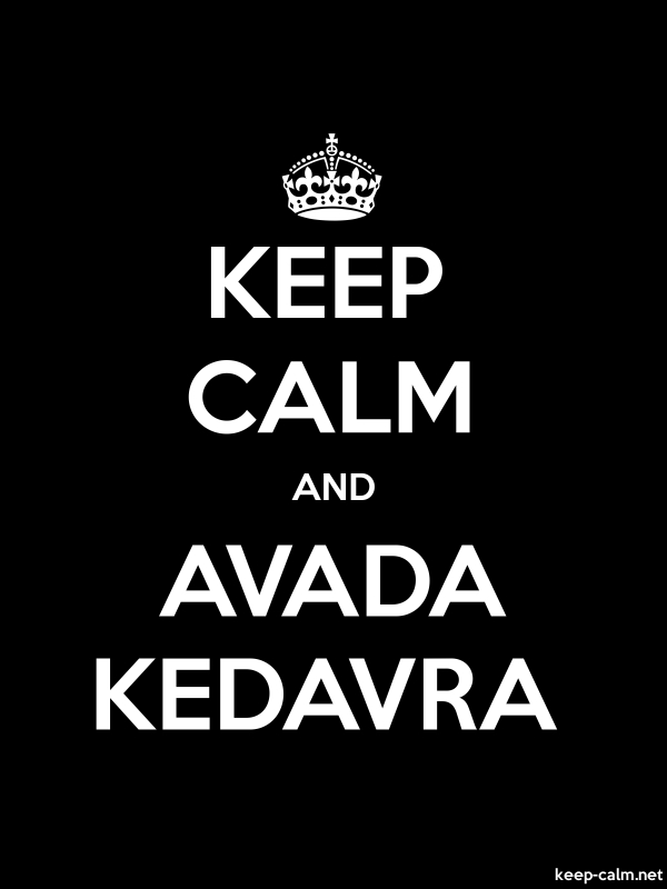 KEEP CALM AND AVADA KEDAVRA - white/black - Default (600x800)