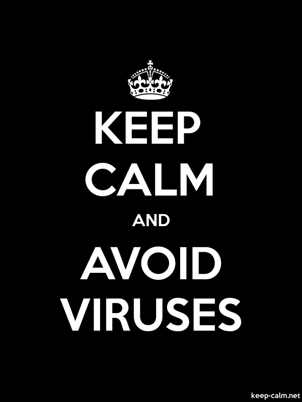 KEEP CALM AND AVOID VIRUSES - white/black - Default (600x800)