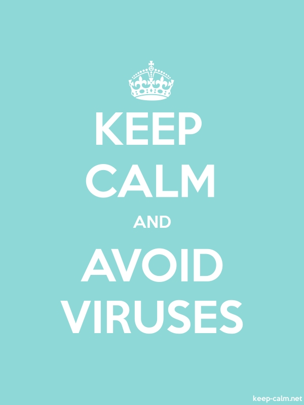 KEEP CALM AND AVOID VIRUSES - white/lightblue - Default (600x800)