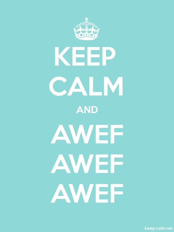 KEEP CALM AND AWEF AWEF AWEF - white/lightblue - Default (600x800)