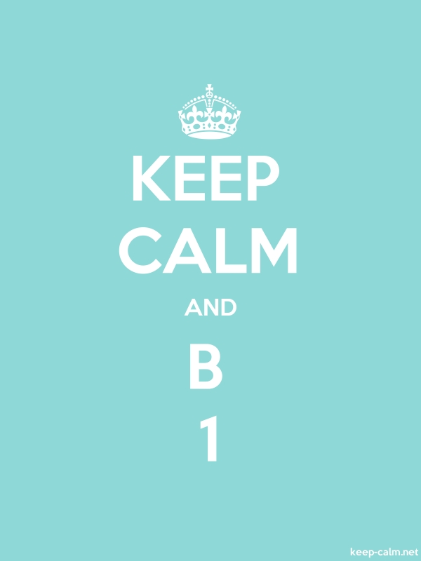 KEEP CALM AND B 1 - white/lightblue - Default (600x800)