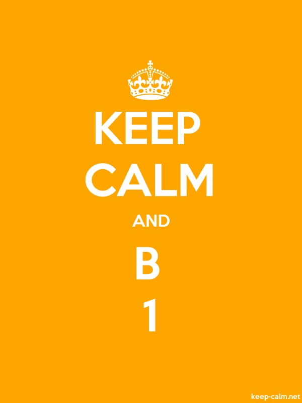 KEEP CALM AND B 1 - white/orange - Default (600x800)