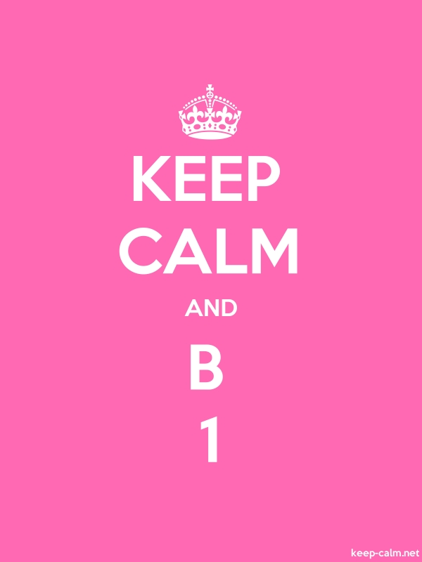 KEEP CALM AND B 1 - white/pink - Default (600x800)