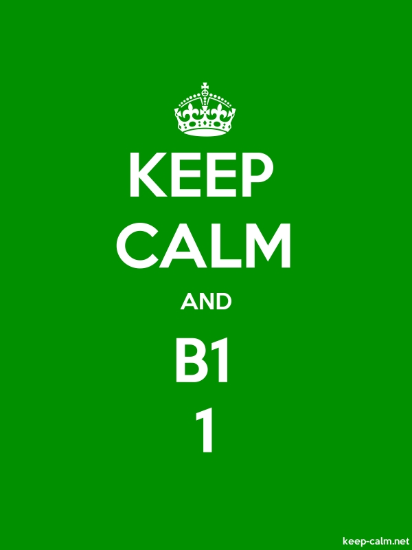 KEEP CALM AND B1 1 - white/green - Default (600x800)