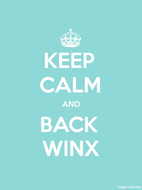 KEEP CALM AND BACK WINX - white/lightblue - Default (600x800)