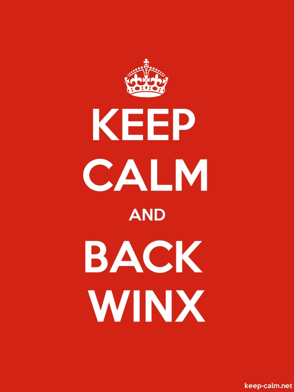KEEP CALM AND BACK WINX - white/red - Default (600x800)