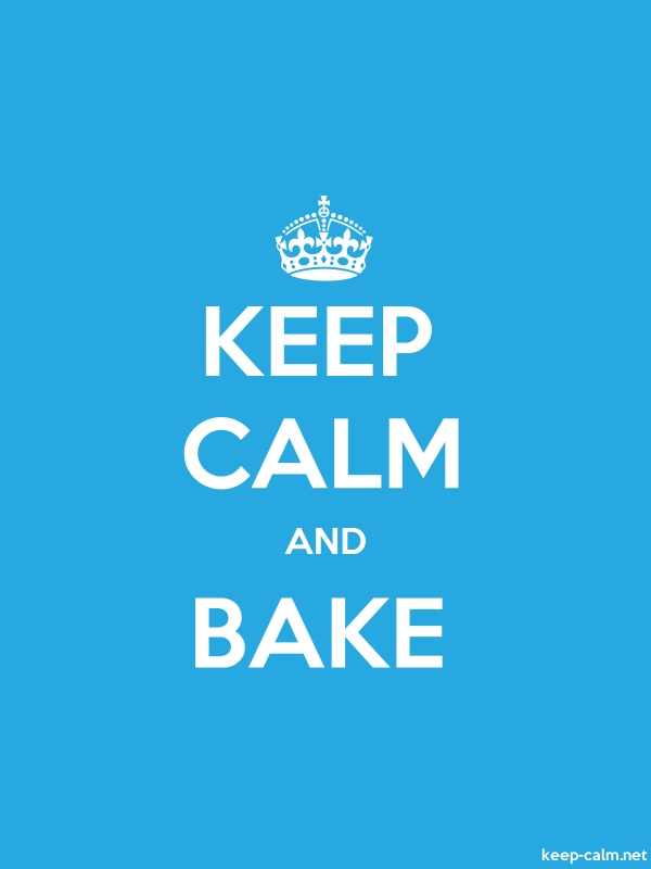 KEEP CALM AND BAKE - white/blue - Default (600x800)