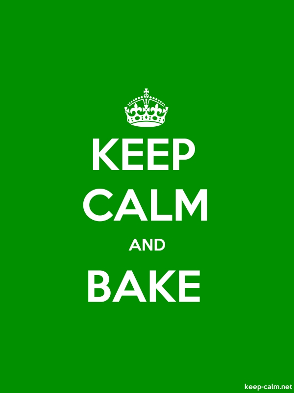 KEEP CALM AND BAKE - white/green - Default (600x800)
