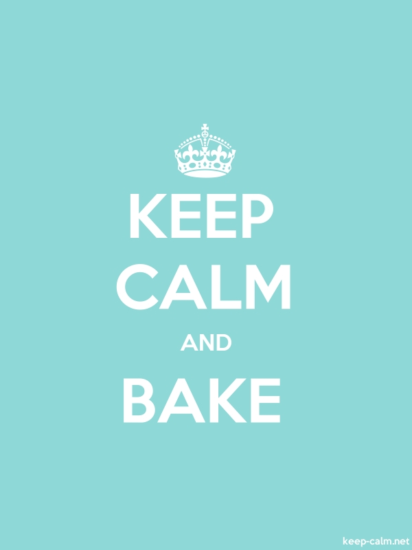 KEEP CALM AND BAKE - white/lightblue - Default (600x800)