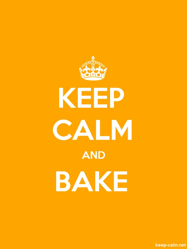 KEEP CALM AND BAKE - white/orange - Default (600x800)