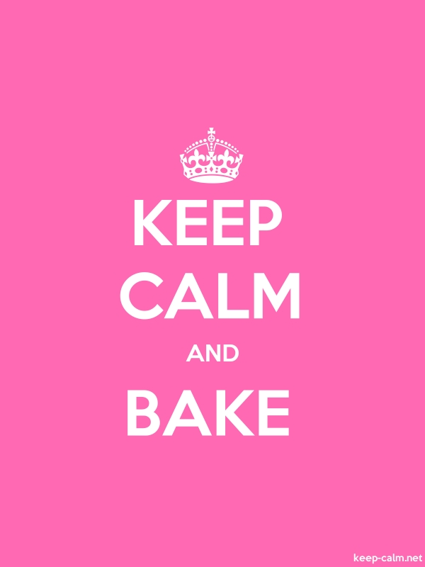 KEEP CALM AND BAKE - white/pink - Default (600x800)