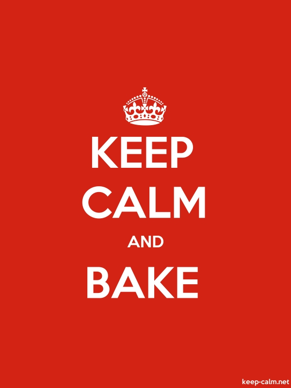 KEEP CALM AND BAKE - white/red - Default (600x800)