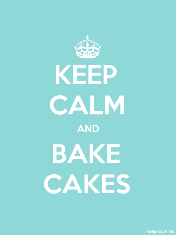 KEEP CALM AND BAKE CAKES - white/lightblue - Default (600x800)