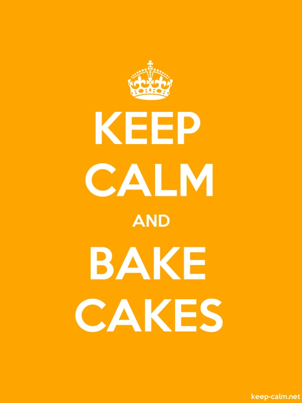 KEEP CALM AND BAKE CAKES - white/orange - Default (600x800)