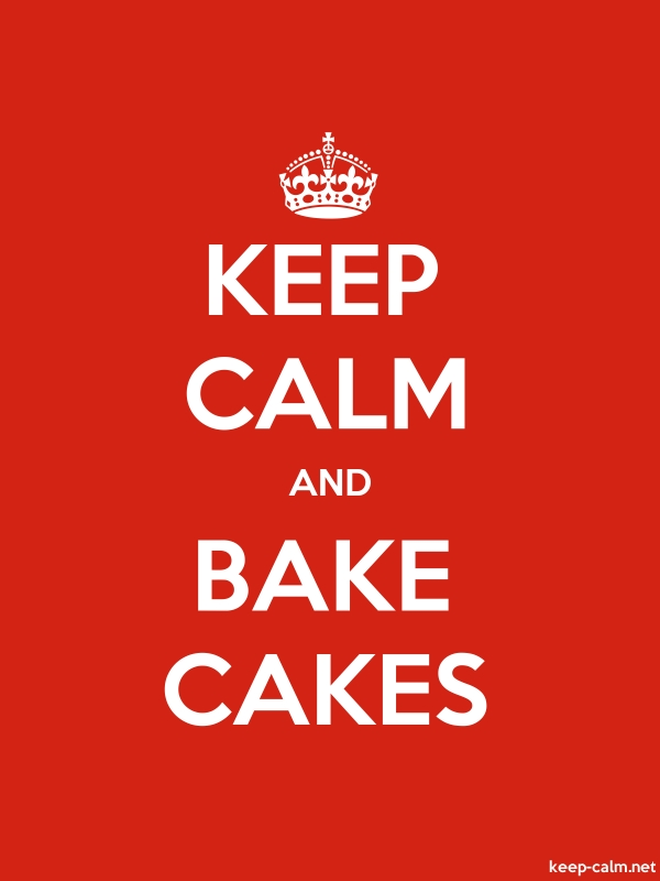 KEEP CALM AND BAKE CAKES - white/red - Default (600x800)