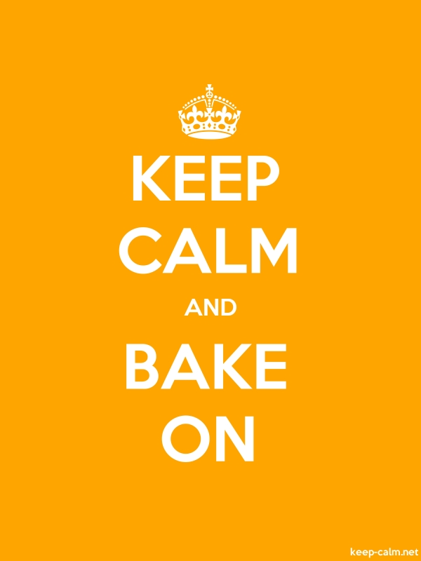 KEEP CALM AND BAKE ON - white/orange - Default (600x800)