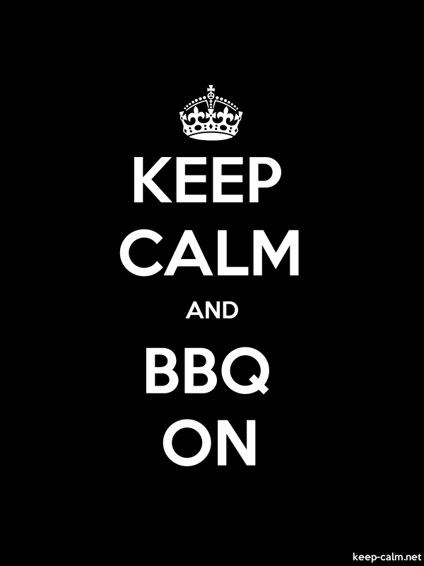 KEEP CALM AND BBQ ON - white/black - Default (600x800)