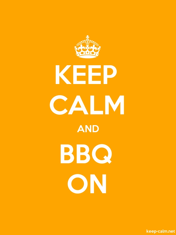KEEP CALM AND BBQ ON - white/orange - Default (600x800)