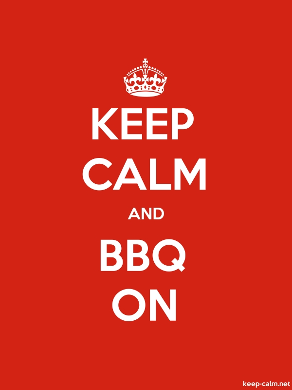 KEEP CALM AND BBQ ON - white/red - Default (600x800)
