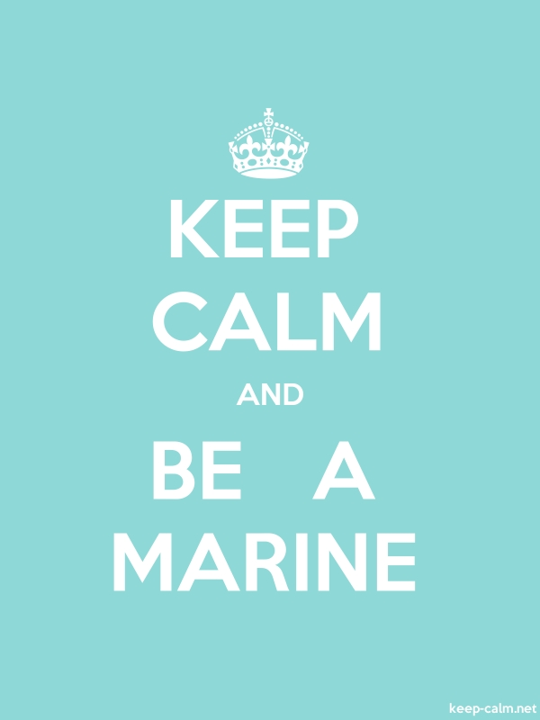 KEEP CALM AND BE   A MARINE - white/lightblue - Default (600x800)